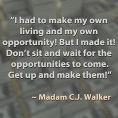 ... up and make them!