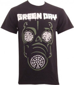 home band merch green day green day t shirt gas mask