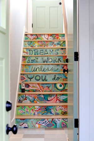art, colorful, image quotes, photography, quotes, stairs, text