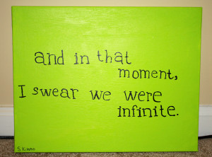 Painting quote perks of being a wallflower