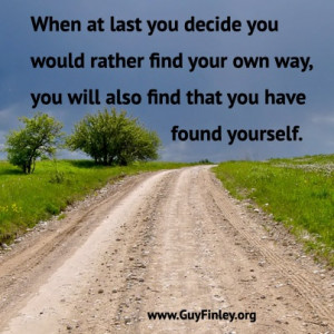 Find your own way www.guyfinley.org