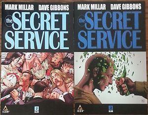 ... Service #2 & 3 Kingsman Mark Millar Dave Gibbons Icon Comic Lot 9/15 b
