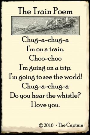 train poem