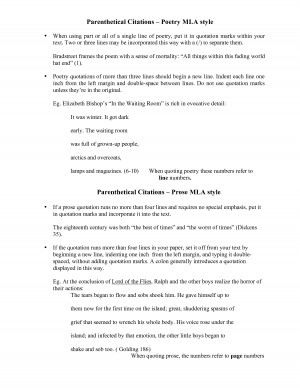 Mla Style Citation Poems