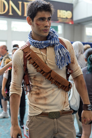 Incredibly cute guy cosplaying Nathan Drake from Uncharted