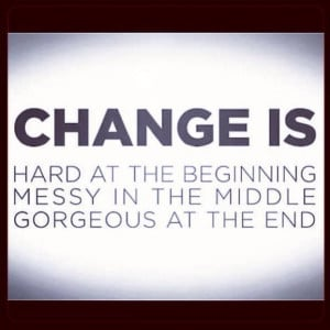 Change is... Hard at the beginning Messy in the middle Gorgeous at the ...