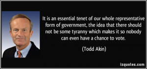 It is an essential tenet of our whole representative form of ...