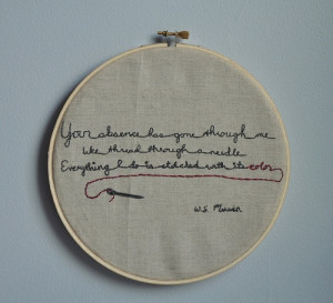 Embroidered poem: Merwin's Separation (by idlehandsdc)