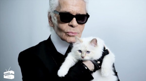 Karl Lagerfeld & Choupette – courtesy Net-a-Porter TV