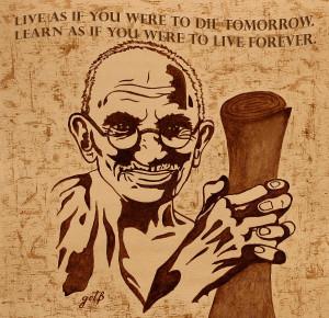 Mahatma Gandhi Quote Painting