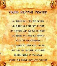 Viking Warrior Runes Viking prayer (13th warrior)