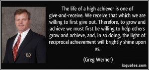 ... willing to help others grow and achieve, and, in so doing, the light