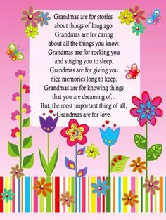 Poems For Your Grandma For Mothers Day Grandma Poems Mothers Day Poems ...