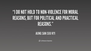non violence is not inaction it is not