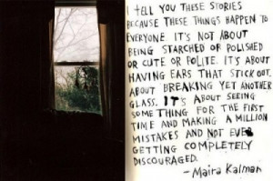 not being completely discouraged
