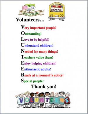 School Volunteer Thank You Poem http://theteacherspost.blogspot.com ...
