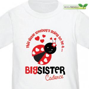 Ladybug Big Sister to be Shirt - I'm Going To Be A Big Sister Ladybug ...
