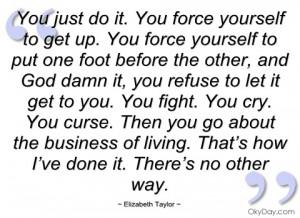 you just do it elizabeth taylor