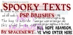 Creepy Quotes PSP Brushes 01