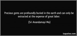 Precious gems are profoundly buried in the earth and can only be ...