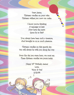 May 6, 2011 - Posted in Birthday Poem -