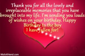 happy birthday for your boyfriend