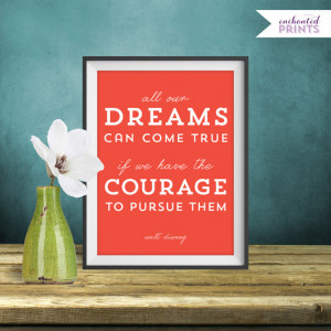 Walt Disney, Dreams Can Come True - Quote Print, Printable art wall ...