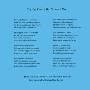 poems about fathers and daughters