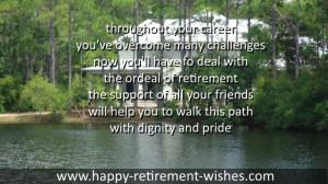 RETIREMENT SAYINGS FRIEND