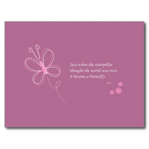 The Butterfly Quote Postcard - Purple