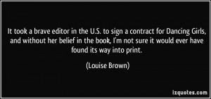 More Louise Brown Quotes