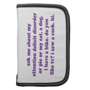 Add Adhd Funny Quote Purple Card From Zazzle
