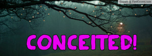 Conceited Profile Facebook Covers