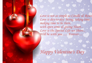 Valentines Day Card With Quote Of Love Image