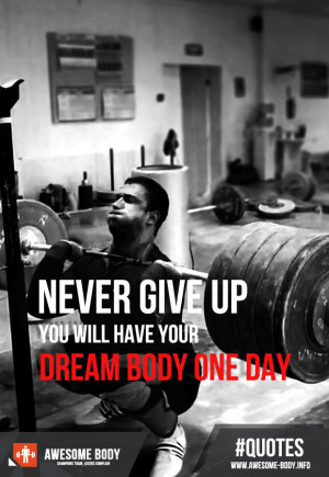 Never give up | motivational quotes | awesome body