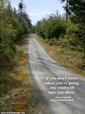 If you don't know where you're going ,