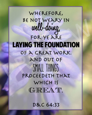 Inspirational Missionary Quote Scripture Be Not Weary Laying ...
