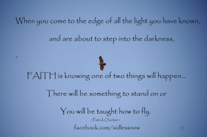 SIDS leap of faith quote