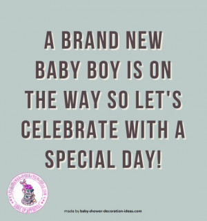 Cute Baby Shower Sayings For A Boy