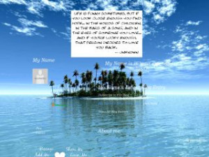 Searched for Paradise Island Love Quotes MySpace Layouts
