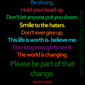 Pix For > Stop Bullying Quotes A...