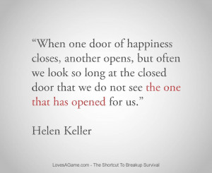 When one door of happiness closes, another opens , but often we look ...