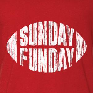 SUNDAY FUNDAY red T-Shirt