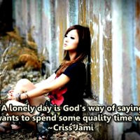 lonely girl in nature with quotes lonely girl quotes ...