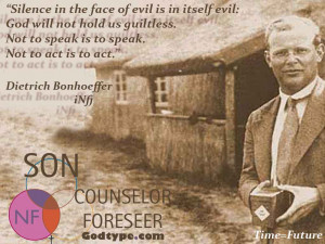 "Dietrich Bonhoeffer Paraphrase Quote: ""Not To Vote (For Romney) Is ..."