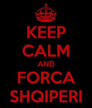 KEEP CALM AND FORCA SHQIPERI