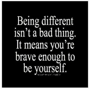 being different isn't a bad thing.