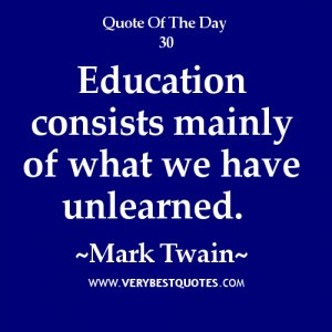 Mark Twain Quotes About Education