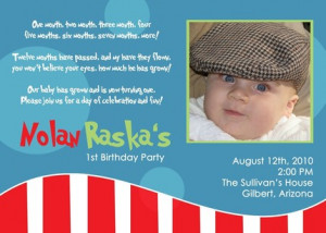 1st birthday quotes for invitations