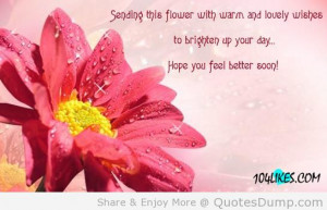 This Flower With Warm And Lovely Wishes To Brighten Up Your Day ...